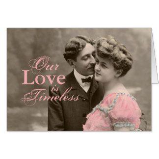 Casal romântico do vintage cartão comemorativo