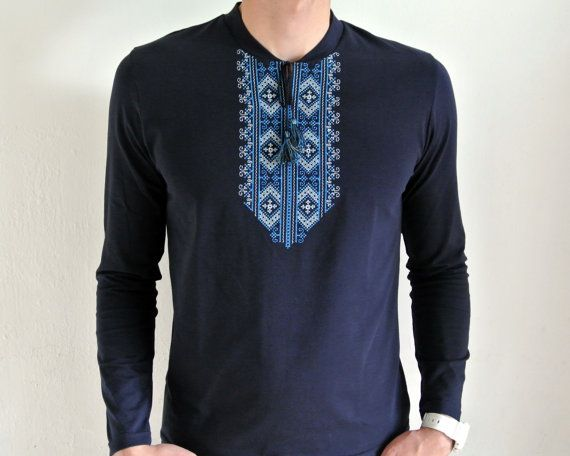 c1ba3c99667 Modern Vyshyvanka t-shirt for men. Stylish combination of modern mans wear  with traditional patterns of Ukrainian embroidery. Nice present for ethno  style ...