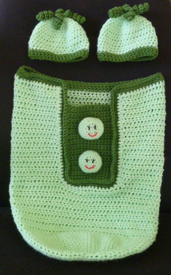 Crochet Twin Two Peas in a Pod Baby Cocoon from Crochet By Sweet Pea ...