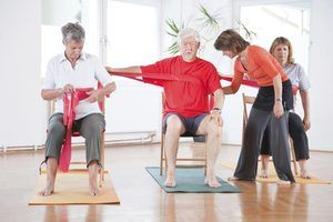 resistance band exercises for seniors  livestrong