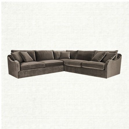 Leeward 123  Three Piece Upholstered Sectional In Vernon Mink | Arhaus Furniture : arhaus garner sectional - Sectionals, Sofas & Couches