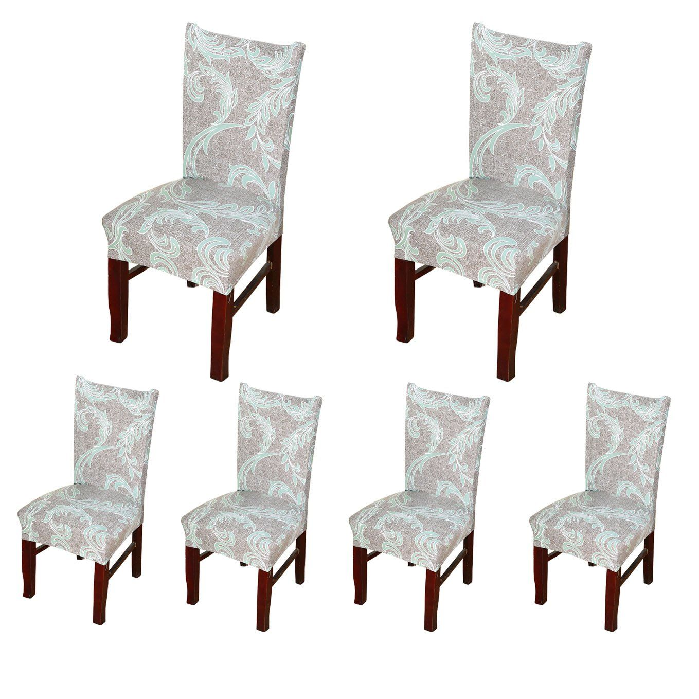 Amazon Com Soulfeel Stretch Spandex Dining Room Chair Protector Slipcovers Set Of 6 Style 44 Daisy Flow Dining Room Chairs Slipcovers For Chairs Slipcovers