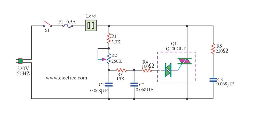 Ac Dimmer Circuit Instructables Pinterest | #1 Wiring ... on