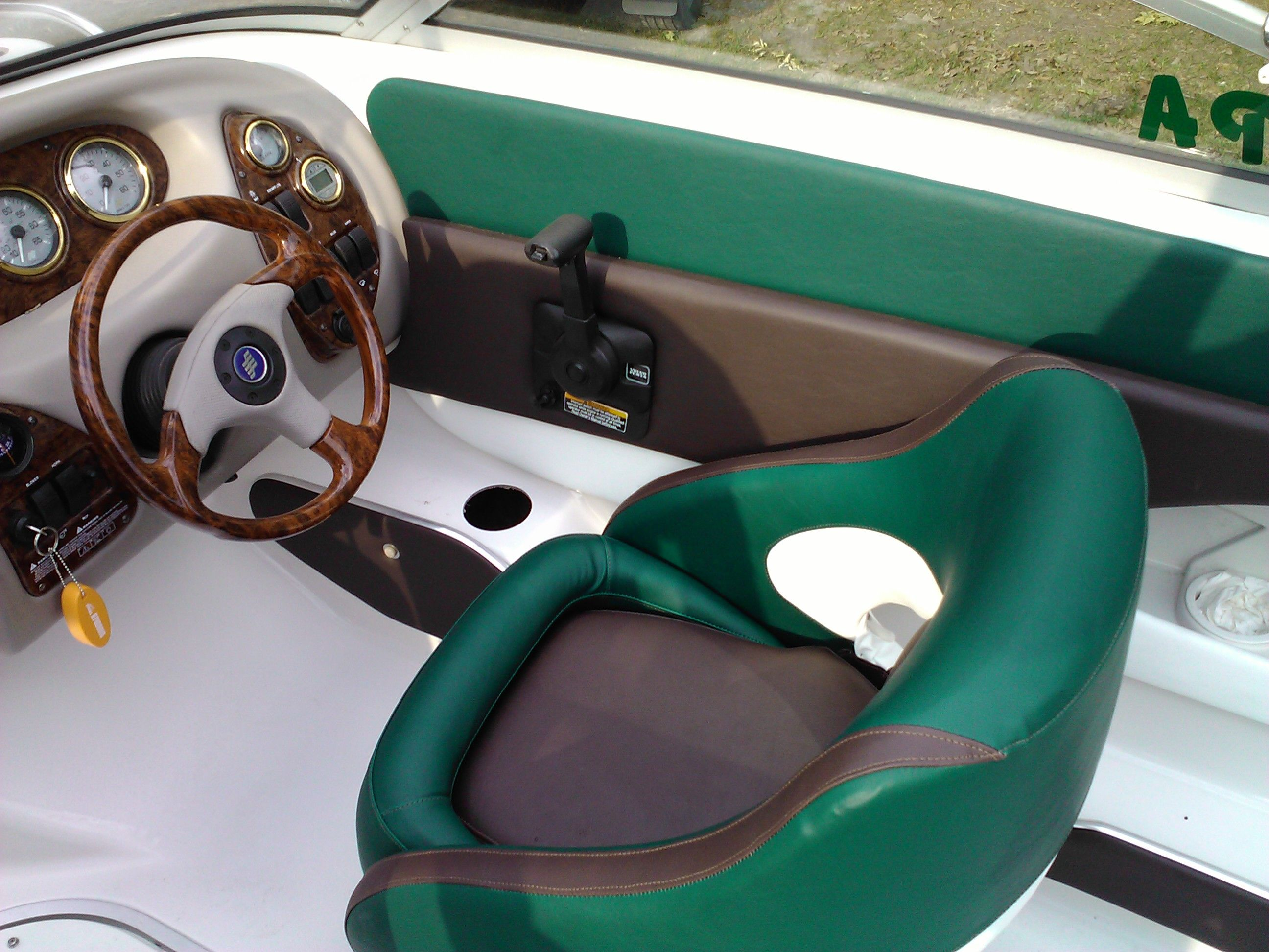 Custom Boat Seats In A Tri Color Design The Owner Was In Awe When He Saw The Completed Project