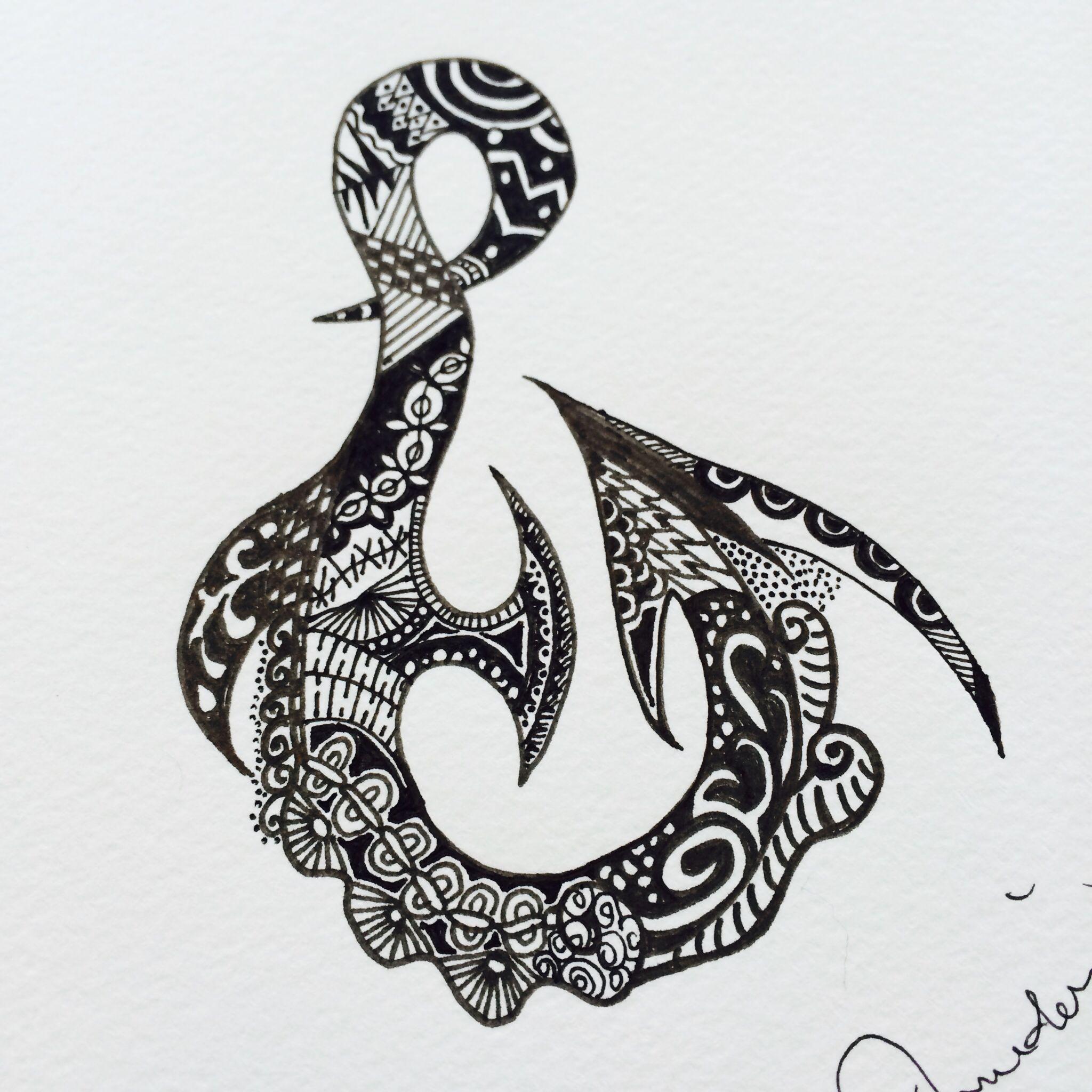 Hook tattoo designs - Maori S Fish Hook