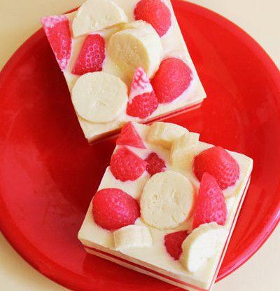 Strawberry Banana Smoothie Soap Bar