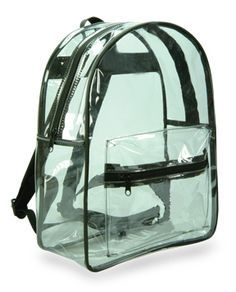 Clear Plastic Vinyl Backpack   my place in 2019   Bags, Backpacks ... ae7107305e
