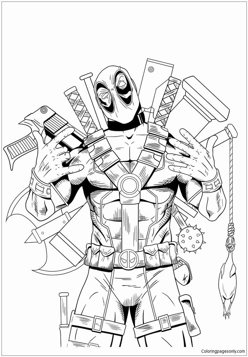 Superhero Free Coloring Pages Best Of Superhero Deadpool Coloring Page Free Coloring Pages Line In 2020 Coloring Pages Cartoon Coloring Pages Free Coloring Pages