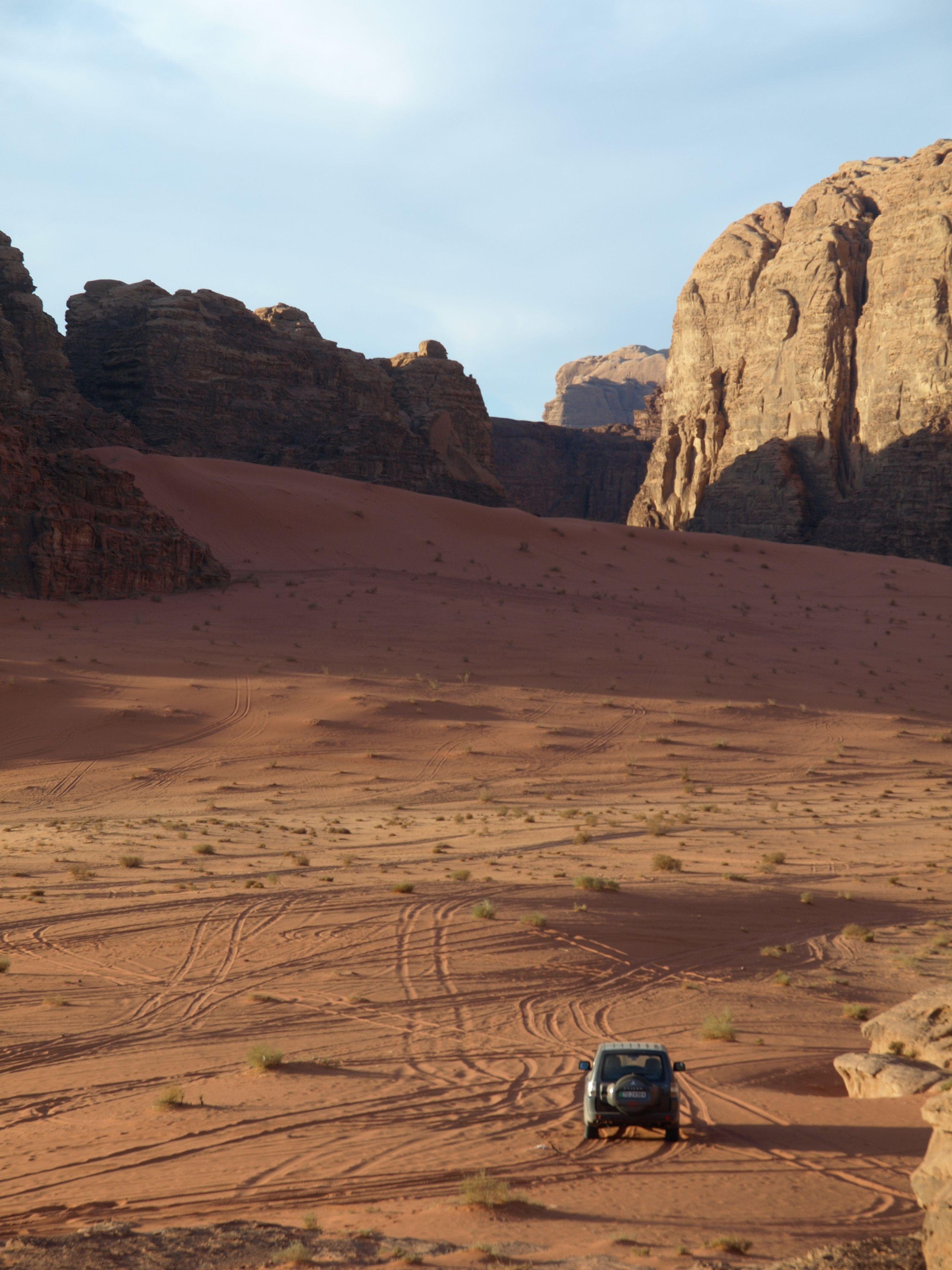 Route Wadi Rum to Aqaba