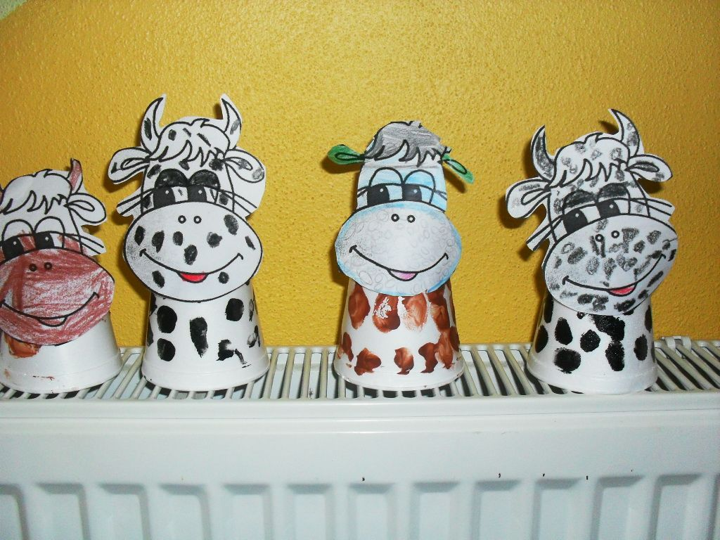 Paper Cup Cow Craft For Kids
