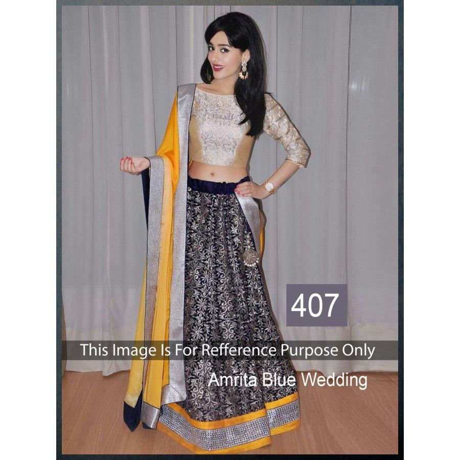 AMRITA RAOL BLUE WEDDING LEHENGA