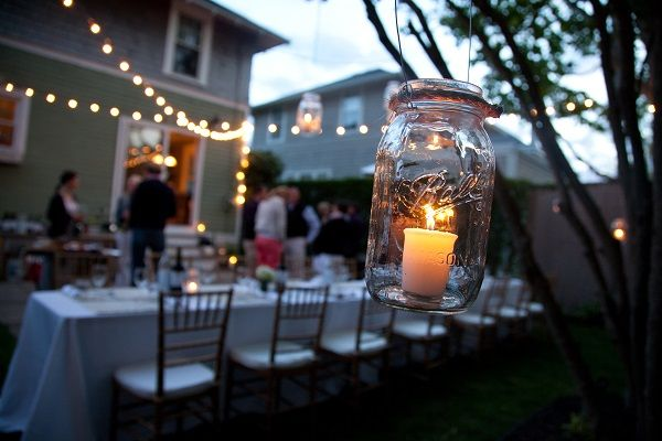 Captivating Backyard Party Lights Happy Party Lights Pinterest