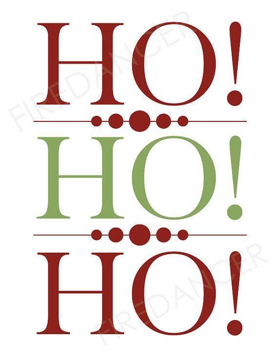 Christmas Wall Decor Pinterest : Ho christmas wall art printable for the by