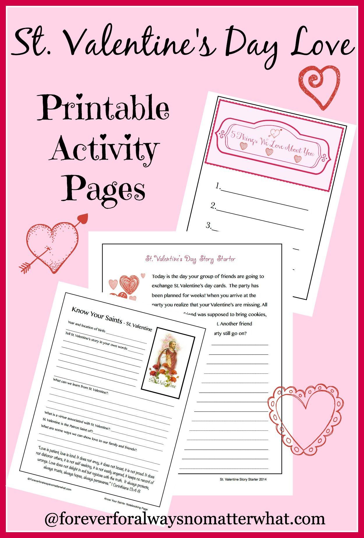 St. Valentine\'s Day Love - A Printable | Activities, Sunday school ...
