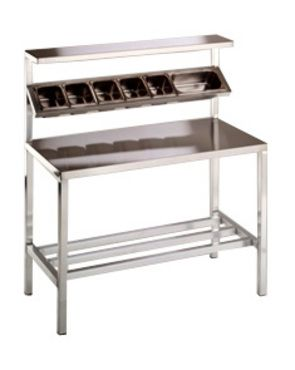 Ft PizzaSalad Preparation Table Stainless Steel Tables - 6 ft stainless steel table