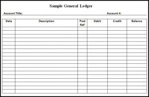 business ledger template free