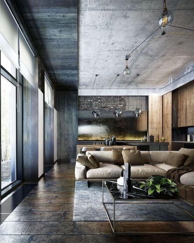 Pin By Viri Hernandez On Interiors Industrial Living Room Design House Ceiling Design Loft Design