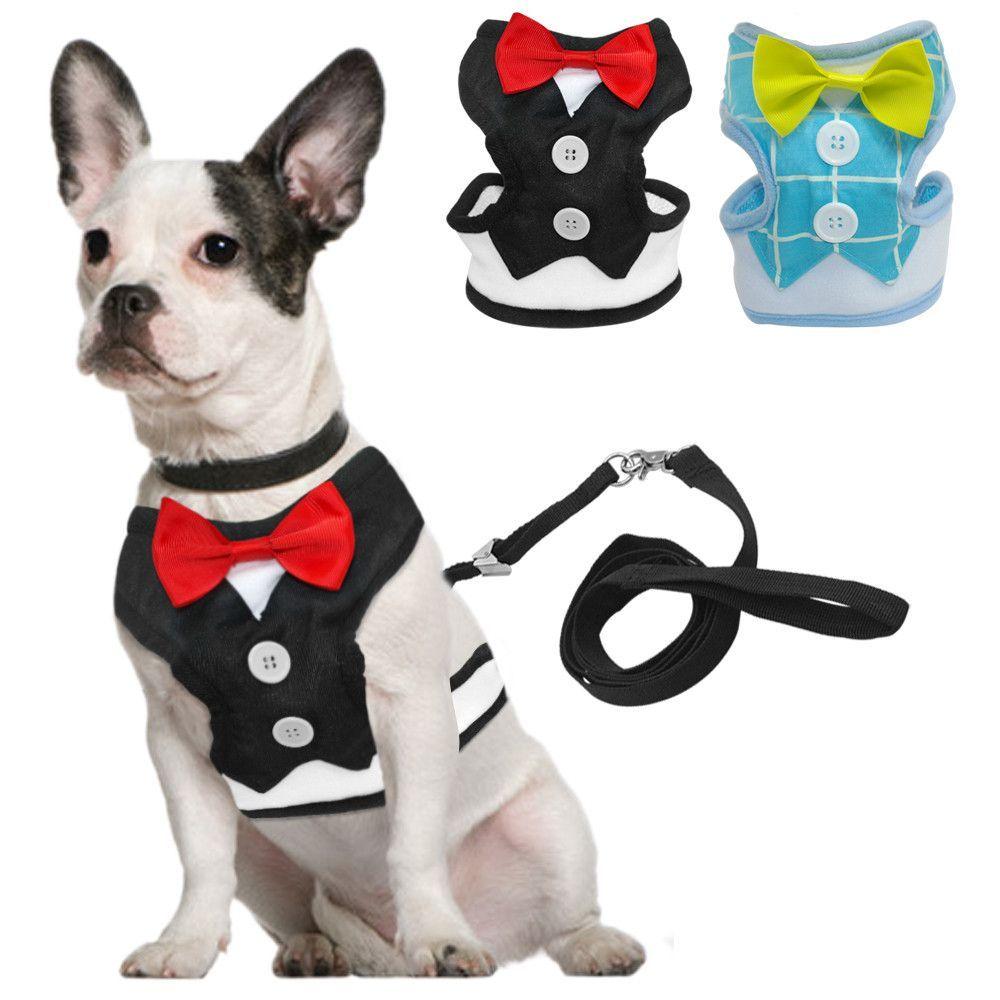 Tuxedo Dog Harness With Bow Leash Dog Harness Dog Tuxedo Dog