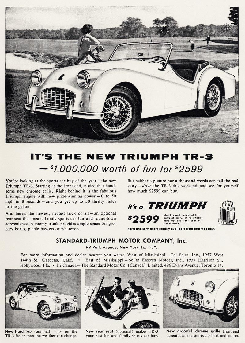 Refrigerator Magnet 40 MIL Thick 1962 Triumph Herald