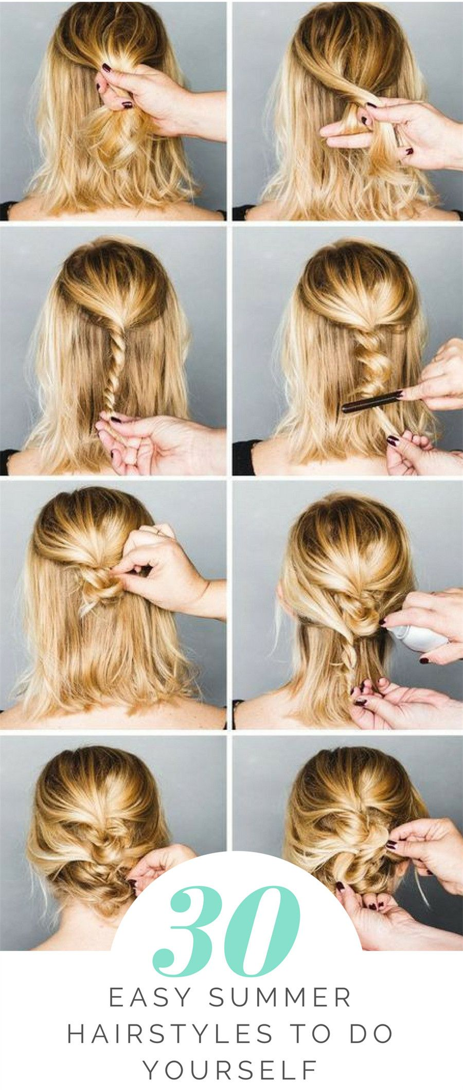 easy summer hairstyles to do yourself beauty pinterest