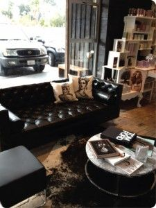 Blanc Noir Hairdressing in Costa Mesa :: Our Koenig Sofa in ...