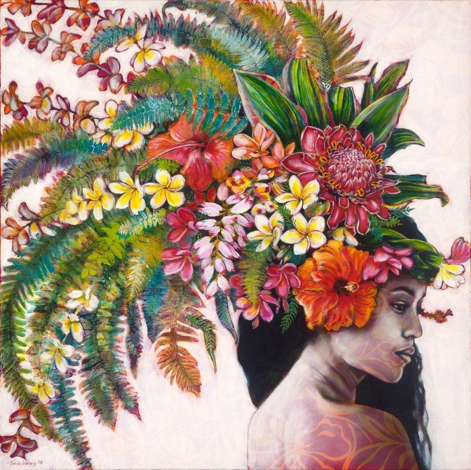 Tania Wursig La Flore Culte Ii Mana Meaning Spiritual Power This Body Of Work Was Inspired By The Beauty Of The R Polynesian Art Hawaii Art Hawaiian Art