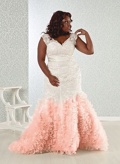 Pink plus size wedding dress | Wedding | Pinterest | Wedding dress ...