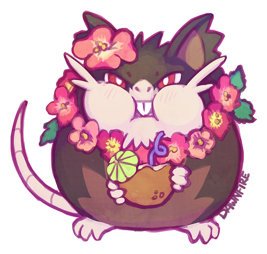 Party Rat By Celebi Yoshi Faticate Fat Raticate Pokémon