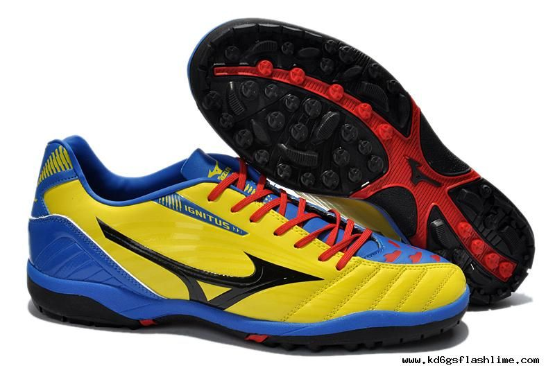 buy popular 6614c 1e2c4 ... top quality pas cher chaussure de football mizuno ignitus club 3 as  bleu jaune rouge 66010
