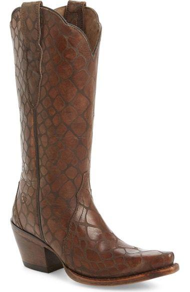 Ariat Women's Antebellum Croc Embossed Western Boot mVRS6t
