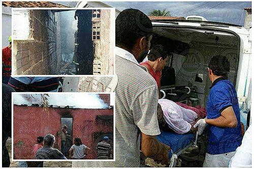 Em Tabuleiro do Norte-CE Homem fica preso dentro de casa em chamas não resiste e morre: ift.tt/2kUsRpx