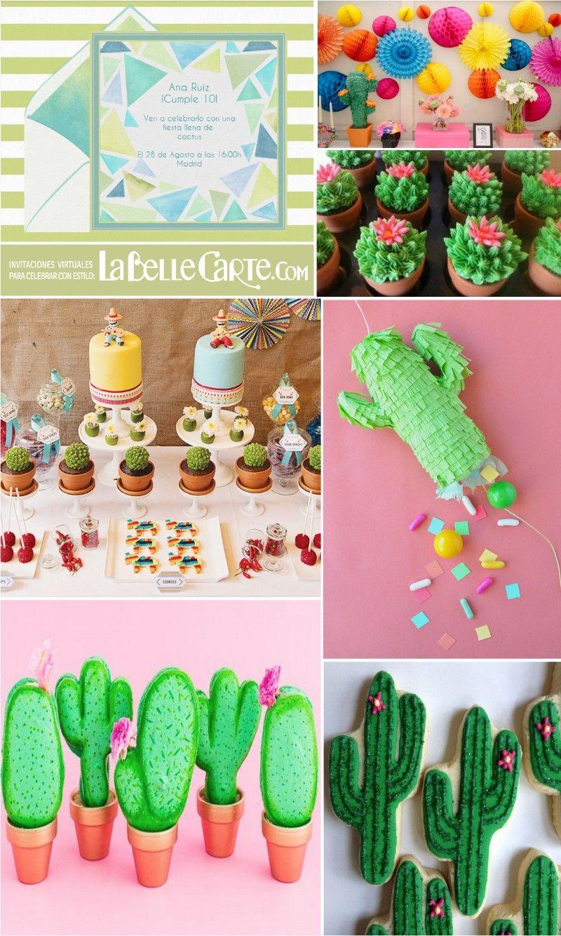 infantiles para fiestas infantiles cumpleanos de cactus fiesta de cactus