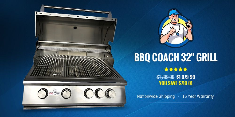 Want To Build Your Dream Outdoor Kitchen Bbq Coach Offers 32 Grill With 4 Burner Commercial 304 Grade Stainless Steel Gas Grill W Grilling Bbq Bbq Kitchen