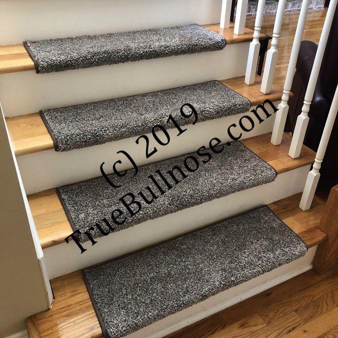 Best Coastal Charm Retreat True Bullnose™ Padded Carpet Stair Tread Sold Each Stair Treads 400 x 300