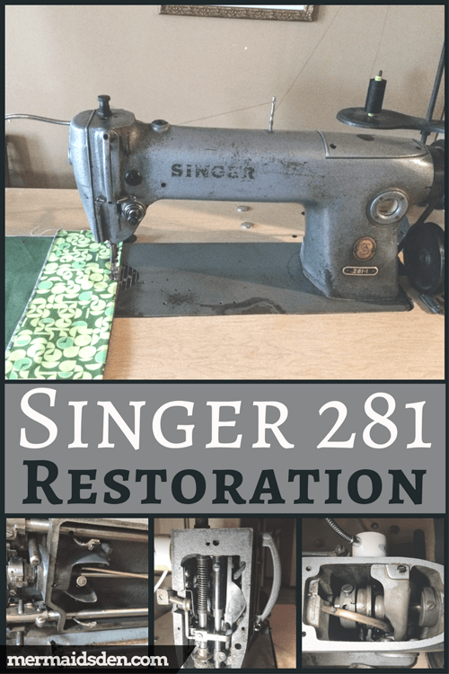 Jul 40 Singer 4040 Restoration Cleaning Adjusting And Replacing Impressive Singer Sewing Machine 281 1