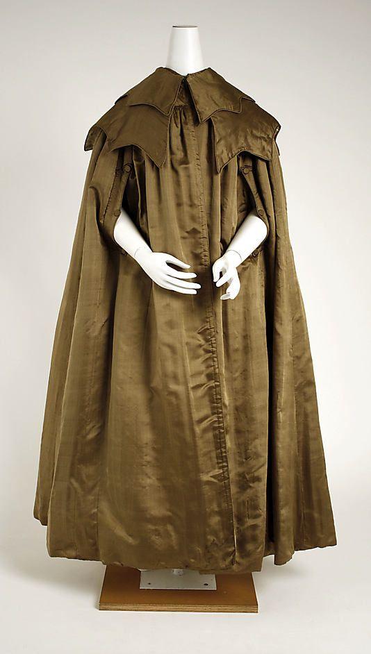 Cape  Date: ca. 1842 Culture: American Medium: silk, cotton