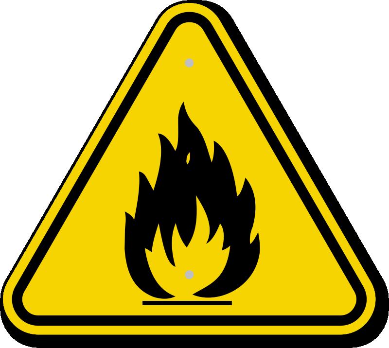 Iso Fire Hazard Warning Symbol Is 2059g 800716 Sam