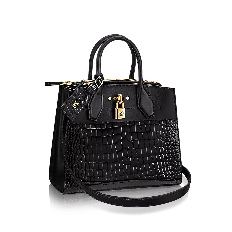 key:product_share_product_facebook_description City Steamer MMkey:global_colon Steamer luggage crafted by Louis Vuitton for cruise-ship passengers at the turn of the last century inspired this stylish, refined city bag. A unique pairing of luxe crocodile skin and smooth calf, it can be carried in multiple ways as day eases into evening.
