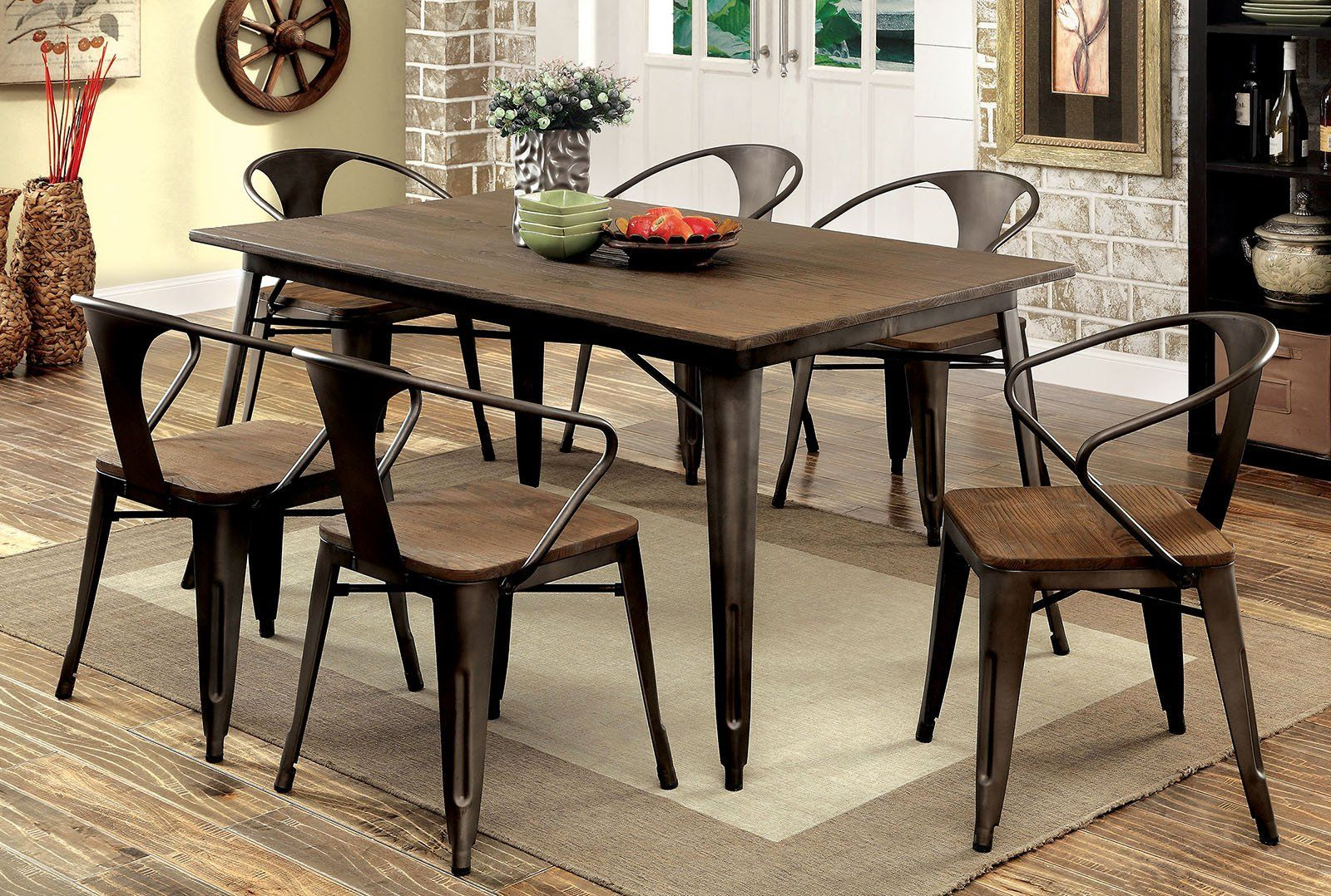 Delightful Cooper I Industrial Dining Table Set