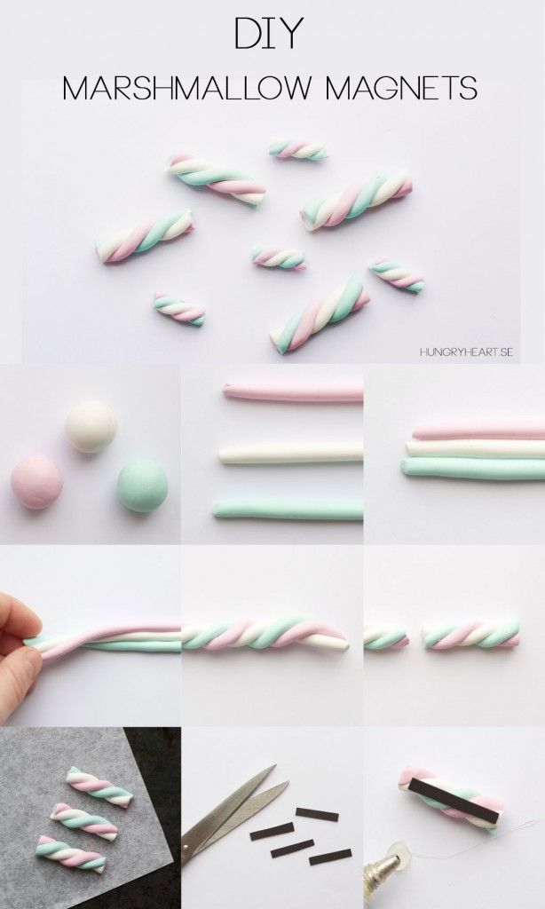 Diy Clay Marshmallow Magnets Step By Step Tutorial Hungryheartse