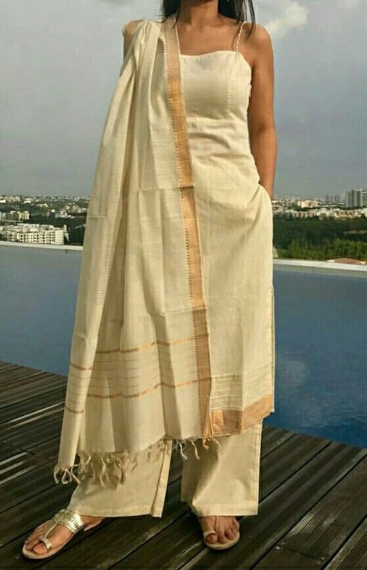 3 Ways to get your White Mangalagiri suits done