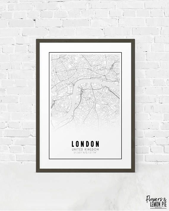 Printable London Street Map.London Printable Black And White Map Europe City Map London