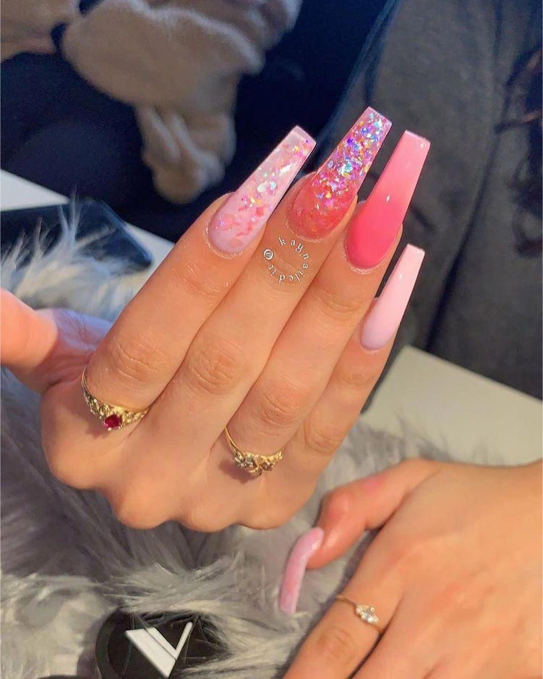 "issa spam 🥱 on Instagram: ""Summer nail inspo ☄️ - -follow me (@bxddienails_ ) for more like this 🍼 Tags: #stillettonails #cutenails #coffinnails #colorfulnails…"""