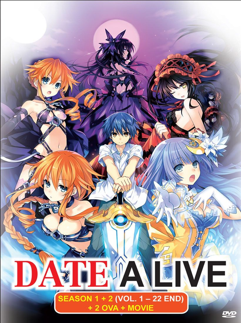 Dvd Anime Date A Live Complete Season 1+2 (122 End) +2