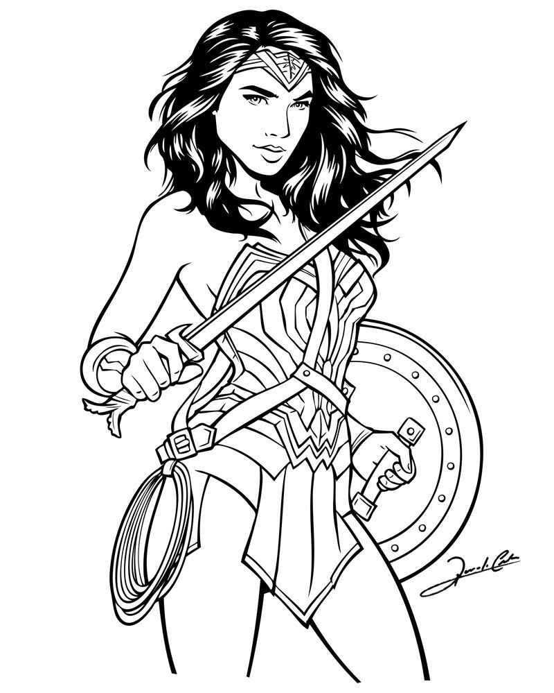 Renato Cunha On Twitter Coloring Pages Fan Art Wonder Woman