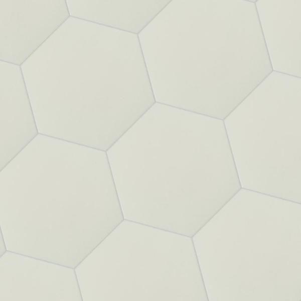 msi glassel bianco hexagon 9 in x 10 5