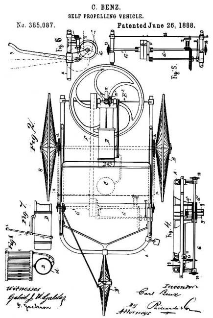 1888, June 26, Illustration from U.S. patent 385087