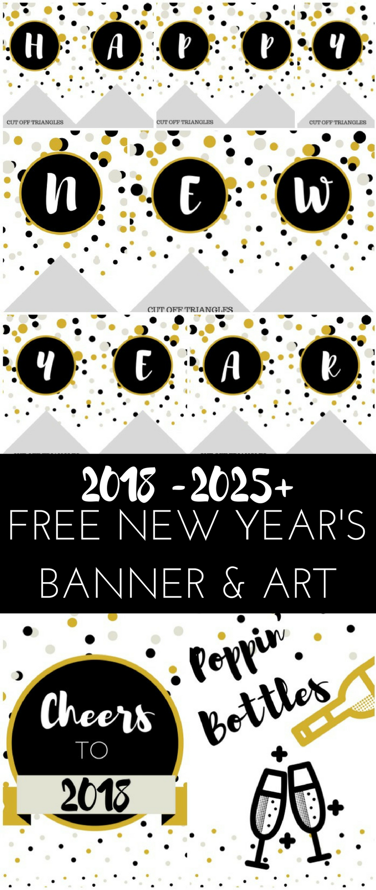 free 2018 happy new year banner wall art printable 2108 newyearprintable newyear