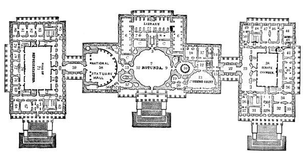 U S Capitol Plan Of The Principal Story U S Capitol Us - Us-capitol-floor-map