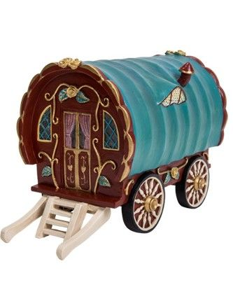 The holiday season is approaching and the fairies are getting their gypsy caravan ready so they can take to the road!  Ideal for putting up fairy friends who visit too
